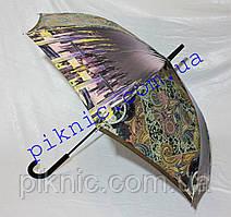 Жіноча парасолька тростина напівавтомат. Парасоля від дощу 102-17-5