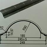 Конек Термастил - Планка конька полукруглая 0.45 мм глянец Китай , фото 3