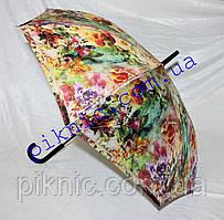 Жіноча парасолька тростина напівавтомат Малина. Парасоля від дощу