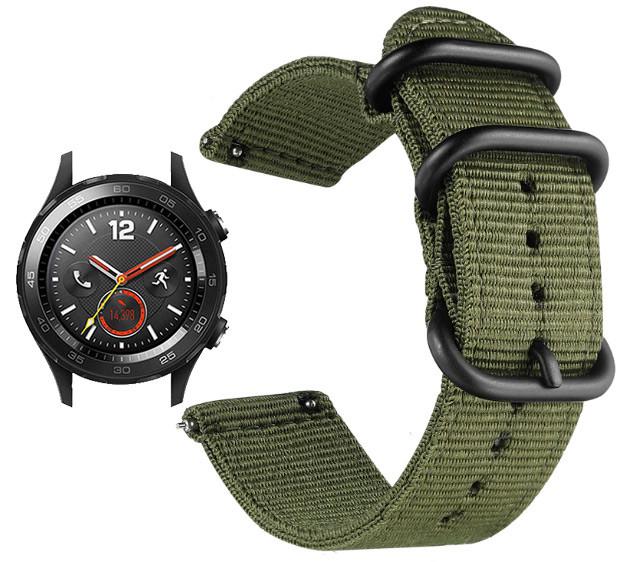 Нейлоновый ремешок Primo Traveller для часов Huawei Watch 2 - Army Green