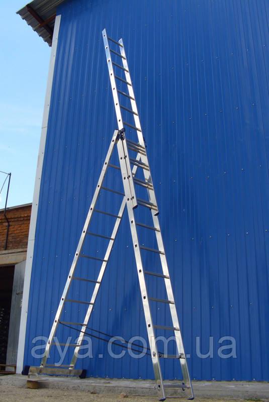 Лестница алюминиевая. 3 Х 10