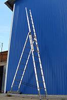 Лестница алюминиевая. 3 Х 10, фото 1