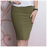 Трикотажная юбка, хаки EVRO (Турция), фото 1