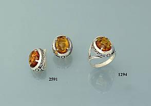 Серьги из серебра с янтарем (реконструкция)., фото 2
