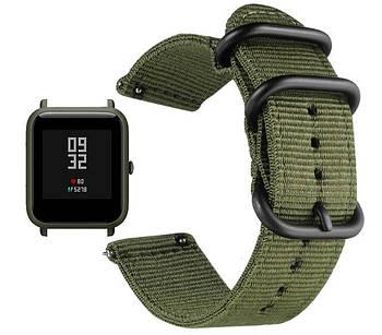Нейлоновый ремешок  Primo Traveller для Xiaomi Amazfit Bip / Amazfit Bip GTS / Amazfit Bip Lite - Army Green