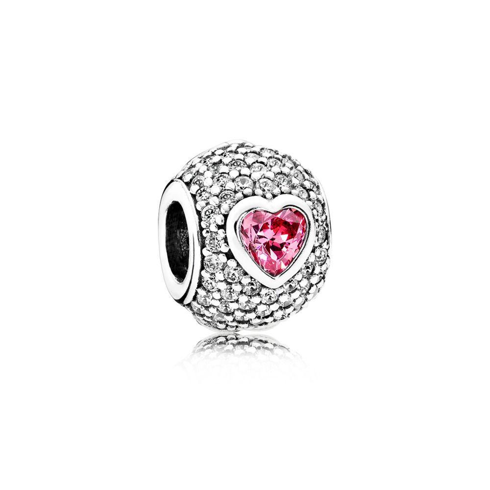 PANDORA Charm Captivating Heart Sterling Silver