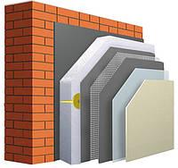 Комплекс материалов для утепления фасада частного дома с пенопластом 100мм.