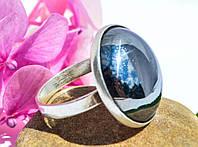 Шикарное антикварное кольцо! Гематит! Серебро,925!