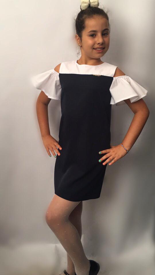 1cd894e1067 Стильное платье сарафан в школу Новинка   продажа