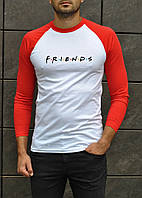 Мужская футболка джерси белая с красным Друзья