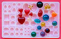 Большой молд БигСайз на 58 форм для эпоксидной смолы, глины, шоколада, карамели, фото 1