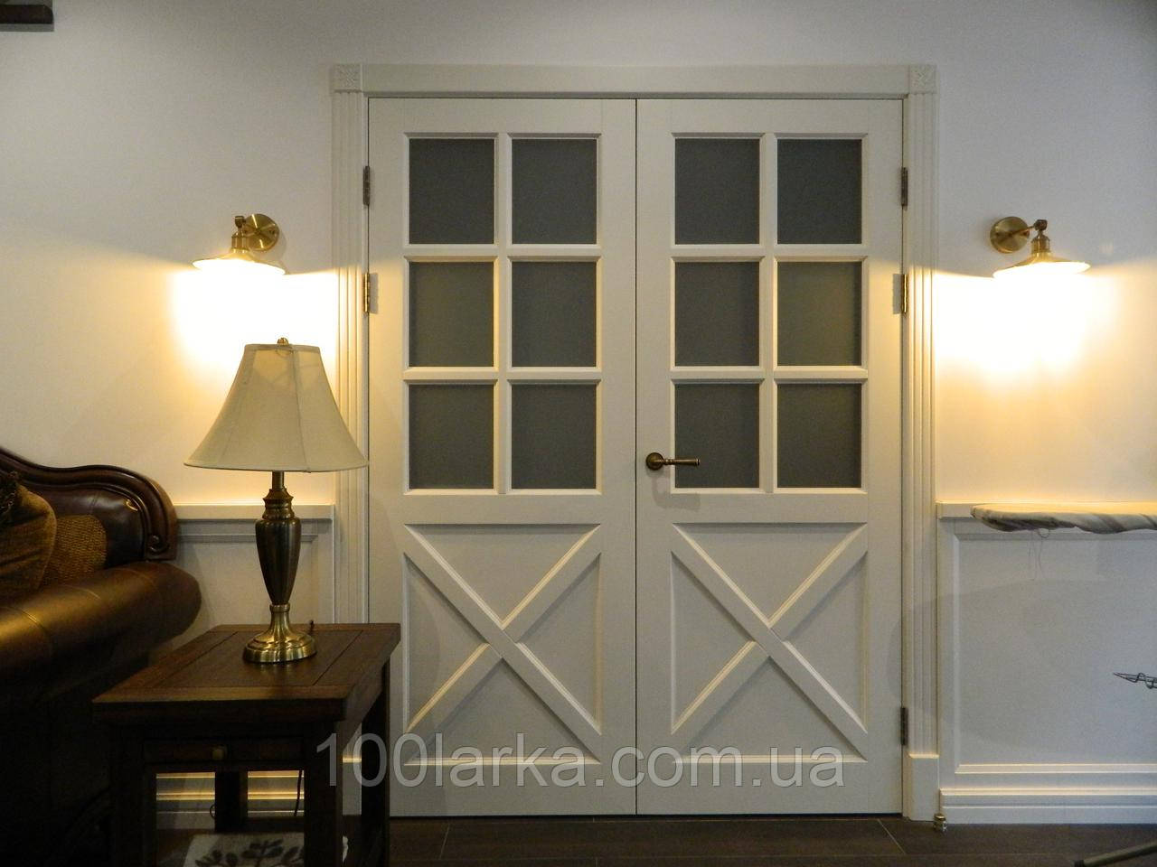 Двери межкомнатные М-27 деревянные массив ясеня, фото 1