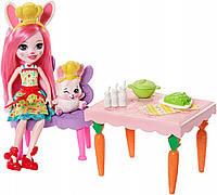 Игровой набор с куклой Enchantimals Кухня для Кролика Бри и Твист FRH47