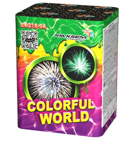 Салют COLORFULL WORLD 20мм. 12выстр. Пиротехника и фейерверки