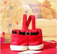 Новогодние штанишки Санты, Деда Мороза, креативная сумка для новогодних подарков, сладостей