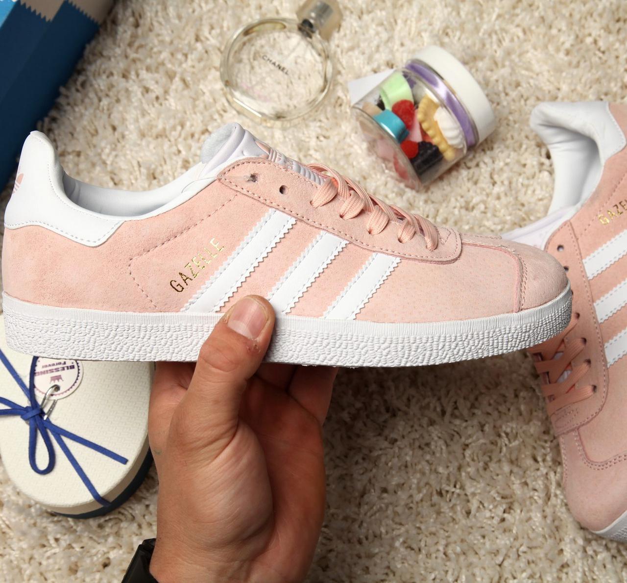07d7a54700a Женские кроссовки Adidas Gazelle Vapour Pink White - Интернет-магазин обуви  Bootlords в Киеве