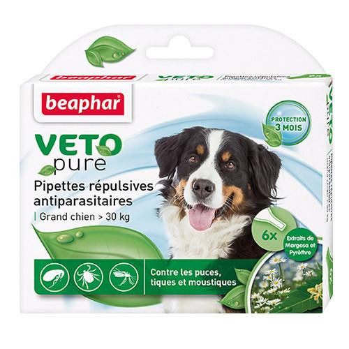 Капли Beaphar Veto Pure (капли от блох, клещей и комаров) для собак свыше 30кг