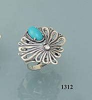 Кольцо из серебра с бирюзой (реконструкция).