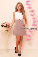 Платье мини с белым топом  8520, фото 1