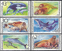 Болгария 1991 морские млекопитающие - MNH XF