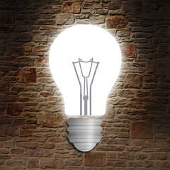 """Дизайнерский светильник """"Lamp"""" на стену со светодиодным освещением"""