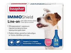 Краплі Beaphar Immo Shield Line-On (краплі від бліх, кліщів і комарів) для собак до 15кг (1 піпетка)