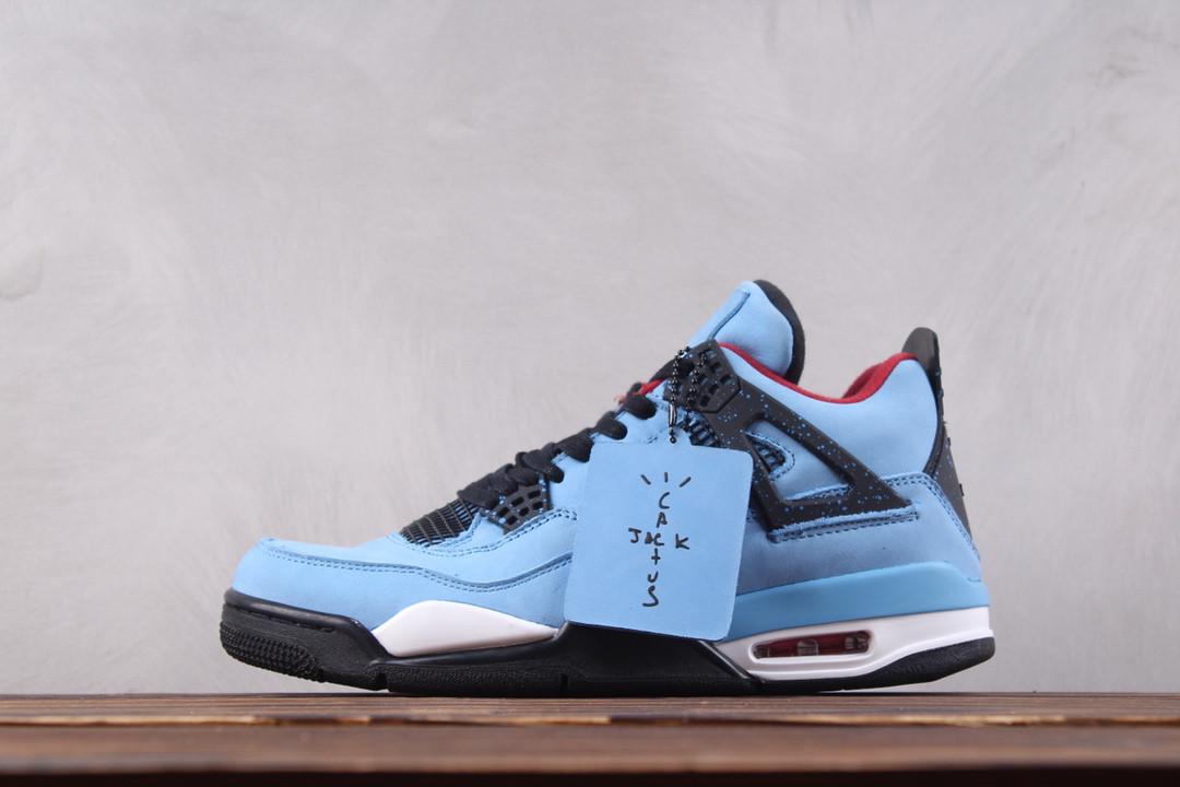 "Кроссовки Nike Air Jordan 4 ""Houston Oilers"" x Travis Scott найк аир  джордан реплика ea872f71d50"