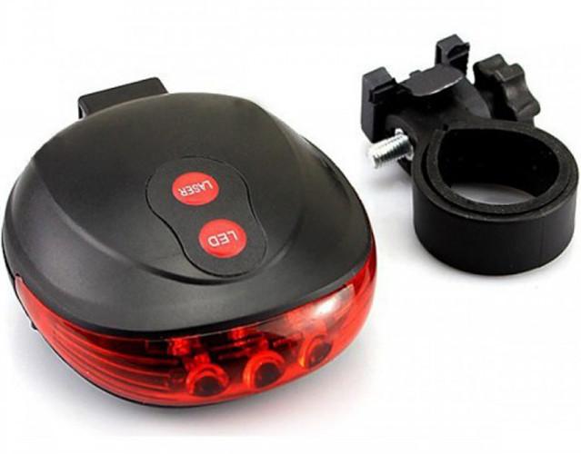 Задняя фара мигалка лазерная дорожка DW-681/9301, 5 LED + 2 LASER (DW-681)