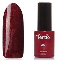 Гель-лак Tertio №94 красный с золотыми микроблестками 10 мл
