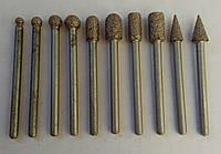 """Борфреза алмазная """"Бурик""""для резьбы по мрамору, камню на хвостовике 3,0 мм. среднее зерно"""