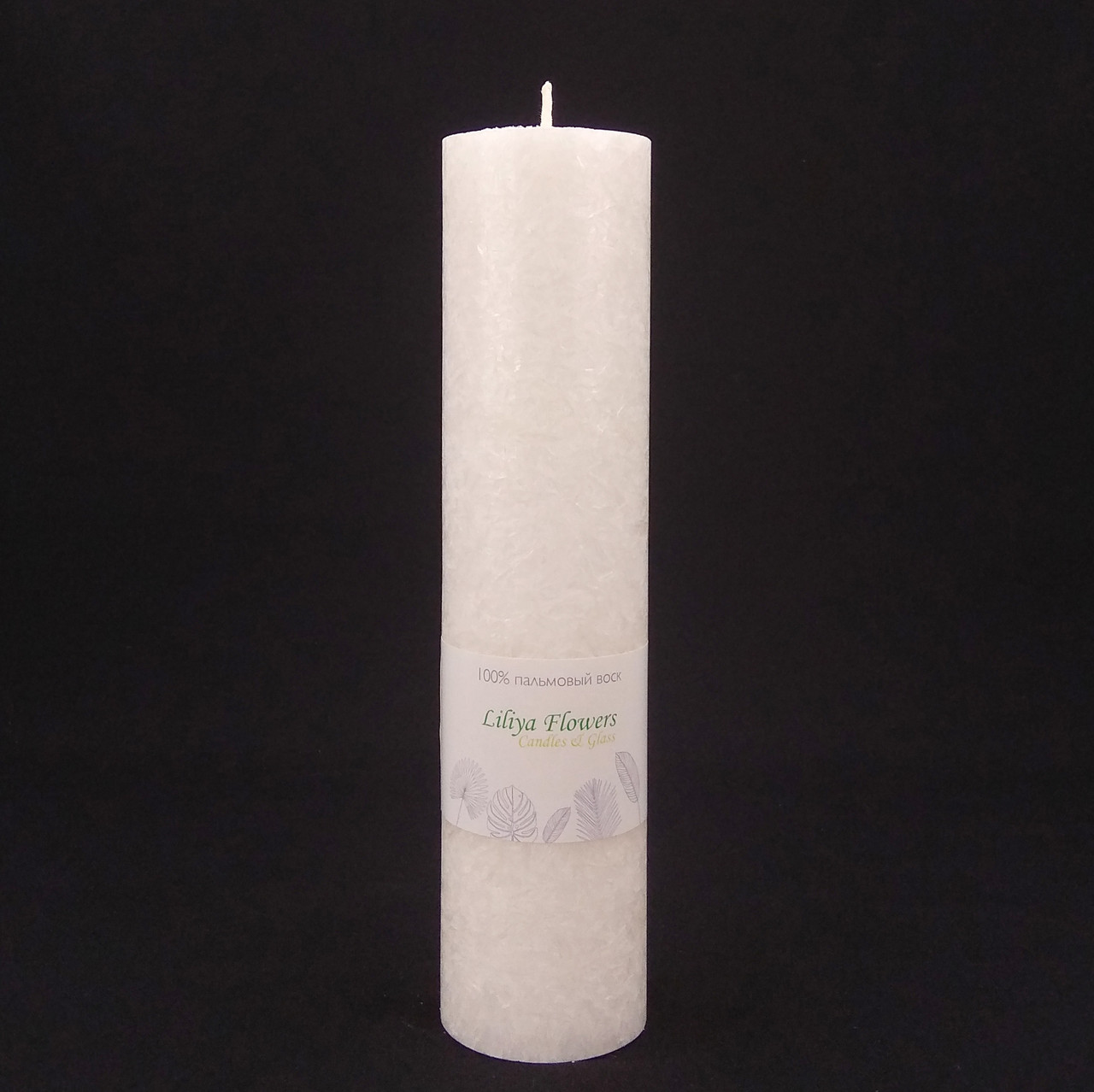 Белая свеча из пальмового воска h 260, Ø 60 мм