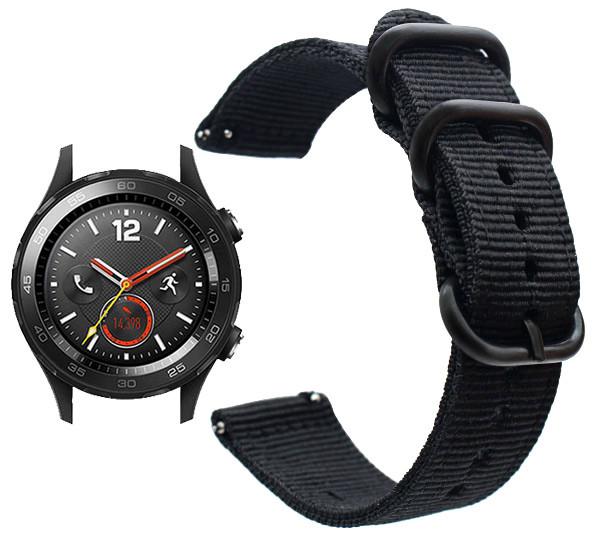 Нейлоновий ремінець Primo Traveller для годин Huawei Watch 2 - Black
