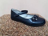 Туфли рр 32-35 синие школьные