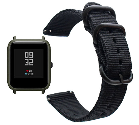 Нейлоновий ремінець Primo Traveller для годин Xiaomi Huami Amazfit Bip / Amazfit GTS - Black