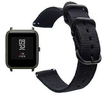 Нейлоновый ремешок Primo Traveller для часов Xiaomi Amazfit Bip / Amazfit Bip GTS / Amazfit Bip Lite - Black