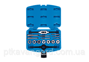 Набор метчиков и плашек метрических 16 предметов М3-М12 King Tony 12916MQ1