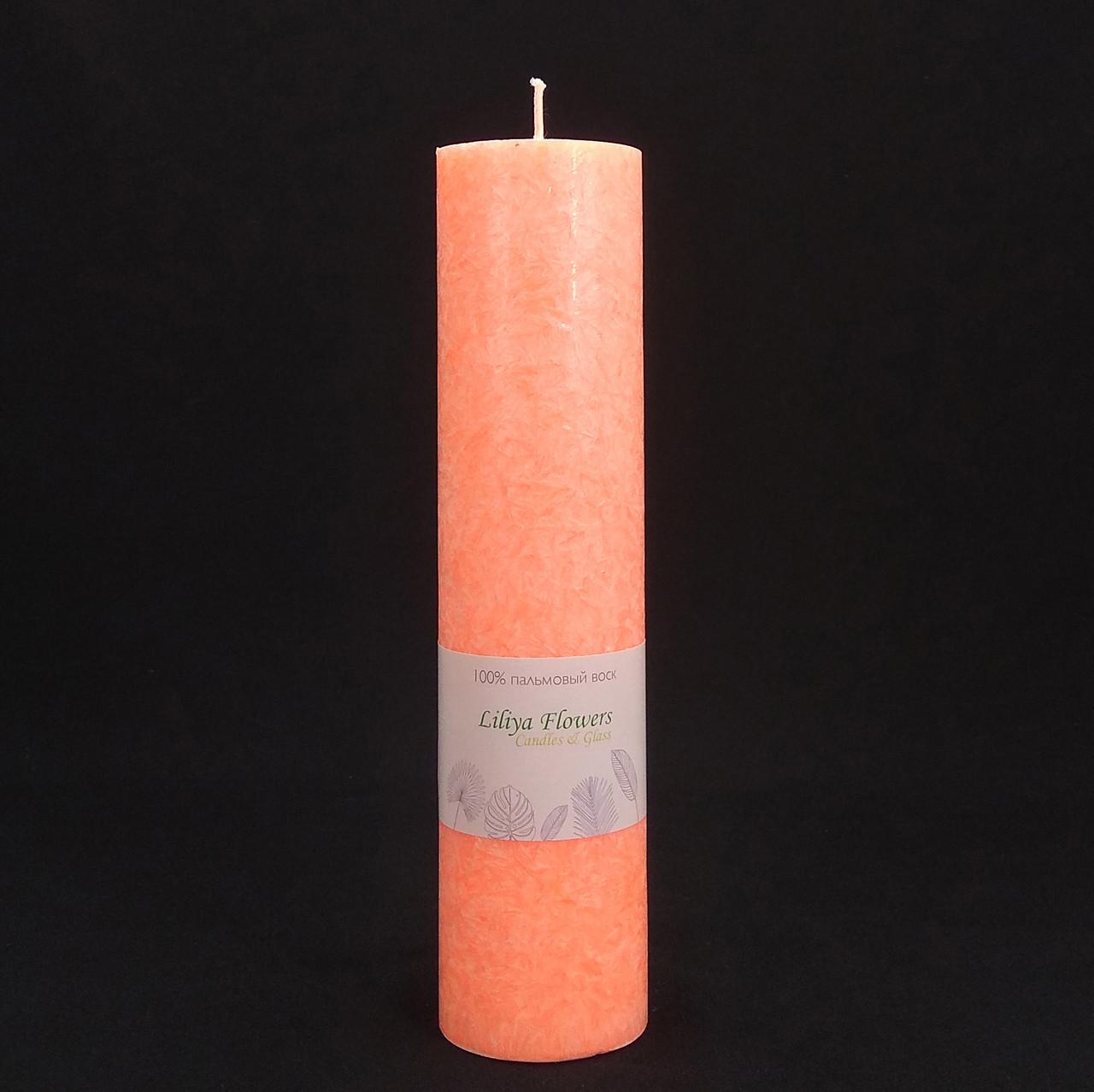 Персиковая свеча из пальмового воска h 260, Ø 60 мм