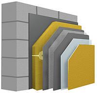 Комплекс материалов для утепления фасада дома с минеральной ватой 100мм.