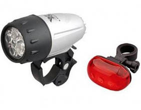 Комплект фар свет + стоп X-Light XC769+XC-771T сірий (OBK8025)