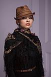 Радоница 920-18, павлопосадский платок (шаль) из уплотненной шерсти с шелковой вязанной бахромой, фото 4