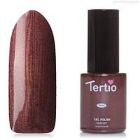 Гель-лак Tertio №96 глубокий фиолетовый с кофейными микроблестками 10 мл
