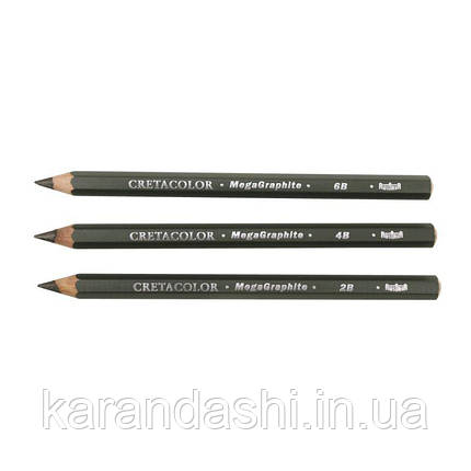 Карандаш графитный MegaGraphit, с увеличенным стержнем 5.5 мм, 2B, Cretacolor, фото 2