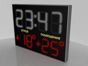 Светодиодные часы с термометром