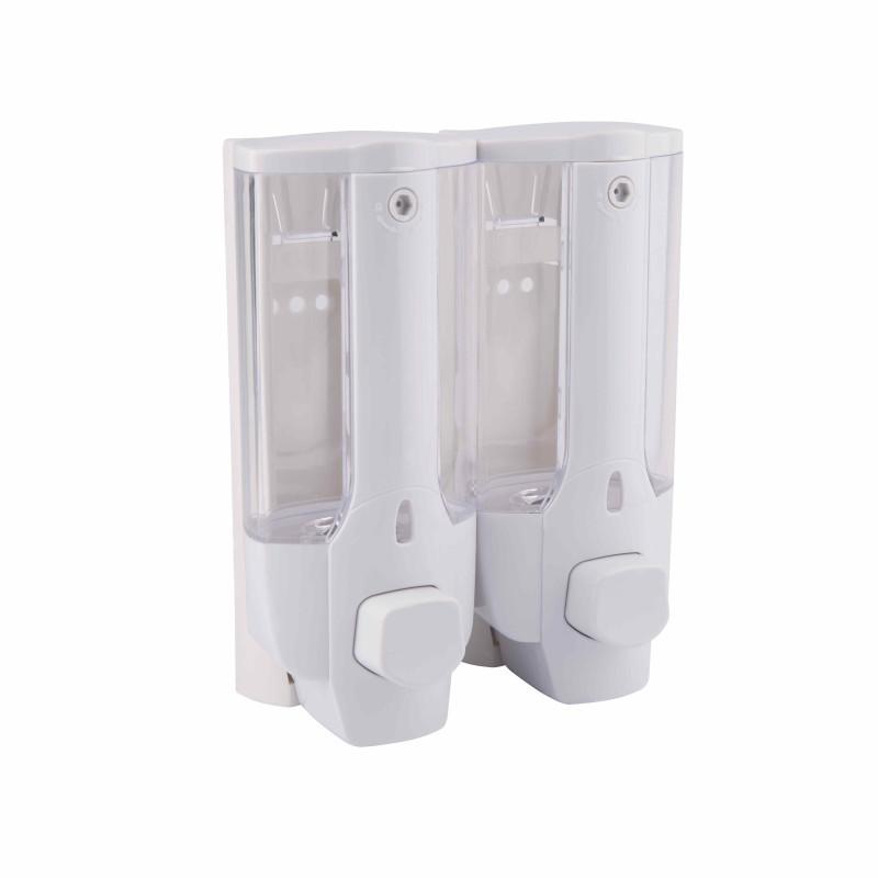 Дозатор для жидкого мыла двойной 350х2 мл GF Italy (CRM)/S-404 белый