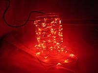 Гирлянда 10м LED красная