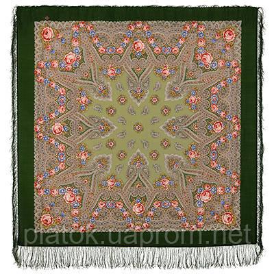 Мгновение 1106-9, павлопосадский платок шерстяной с шелковой бахромой