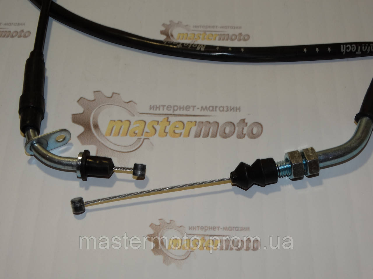 Трос газа для китайского скутера GY6 4T 50-100сс(гайка-пластинка)