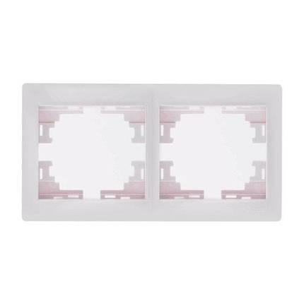 Lezard Mira Рамка двойная горизонтальная Белый, фото 2