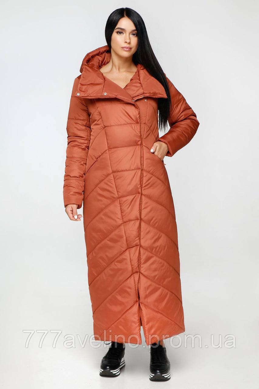 Женская зимняя куртка длинная стильная