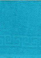 Махровое полотенце 50*70, 100% хлопок, Туркменистан, голубой